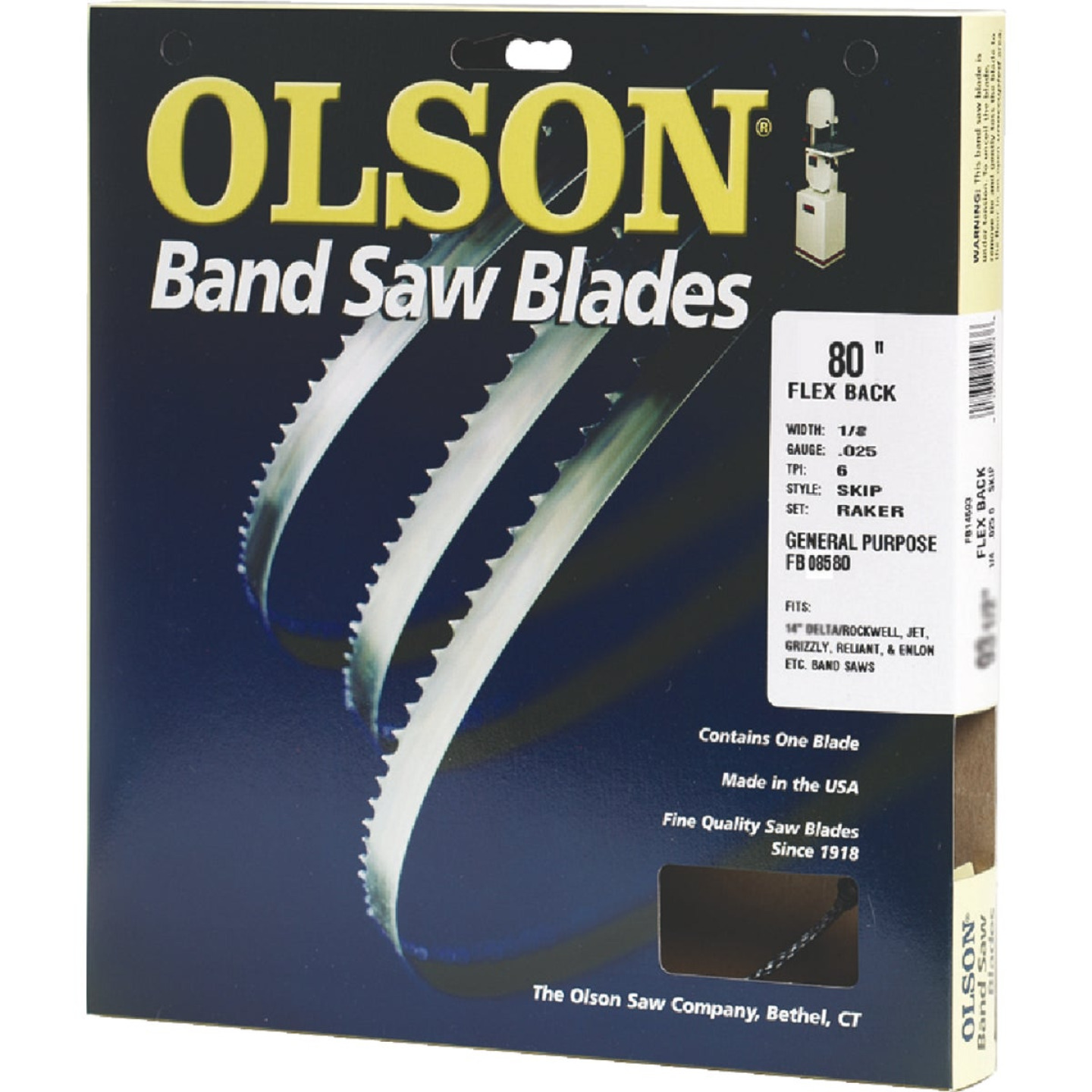 Olson 80 In. x 1/8 In. 14 TPI Regular Flex Back Band Saw Blade Image 1