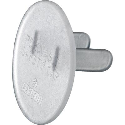 Leviton Clear Plastic Safety Outlet Plug (12-Pack)