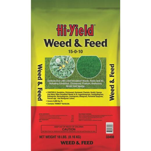 Hi-Yield 18 Lb. 5000 Sq. Ft. 15-0-10 Lawn Fertilizer with Weed Killer