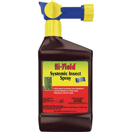 Hi-Yield 32 Oz. Ready To Spray Hose End Systemic Insect Killer