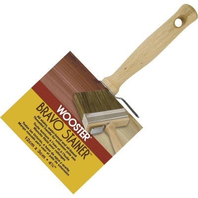 Wooster Bravo Stainer 4-3/4 In. Square Trim Stain Brush