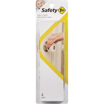 Safety 1st Grip n' Twist Snap-On White Door Knob Cover (4-Pack)