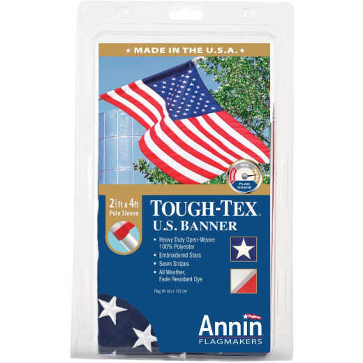 Annin Tough-Tex 2.5 Ft. x 4 Ft. Polyester American Banner Flag